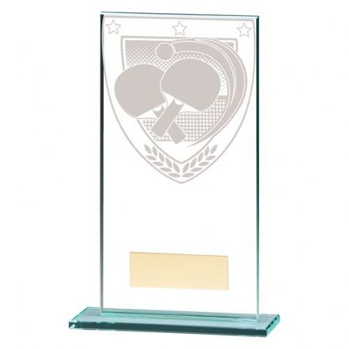 Millennium Table Tennis Jade Glass Award 160mm